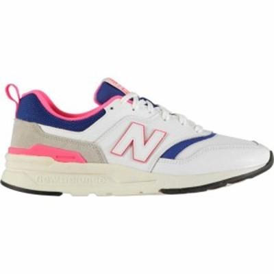 ニューバランス New Balance レディース スニーカー シューズ・靴 997 Pop Trainers Wht/Blue/Pnk