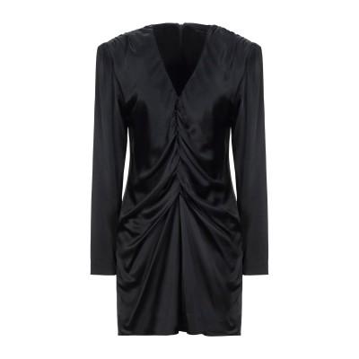 フェデリカ・トシ FEDERICA TOSI ミニワンピース&ドレス ブラック 44 ポリエステル 97% / ポリウレタン 3% ミニワンピース&