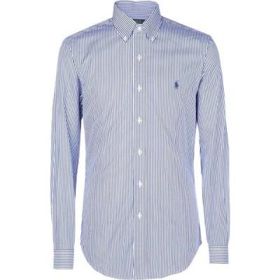 ラルフ ローレン POLO RALPH LAUREN メンズ シャツ スリム トップス Slim Fit Poplin Shirt Striped Shirt Blue