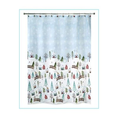 新品Avanti Linens Christmas Village Shower Curtain, Multicolor