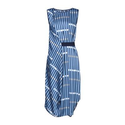 MARIELLA ROSATI ひざ丈ワンピース ブルー 40 ポリエステル 100% ひざ丈ワンピース