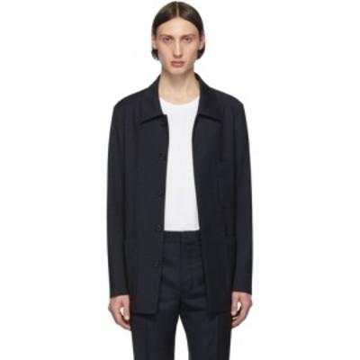 メゾン マルジェラ Maison Margiela メンズ ジャケット アウター Navy Wool Three-Pocket Jacket Dark blue