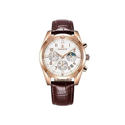 クォーツ腕時計 メンズウォッチ 防水ウォッチ 大きな文字盤 ホワイト