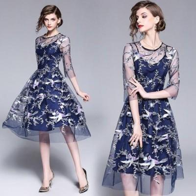 ドレス パーティードレス 結婚式 結婚式ドレス パーティドレス Aライン ドレス 体型カバー 大人 二次会ドレス 大きいサイズ お呼ばれドレス 披露宴