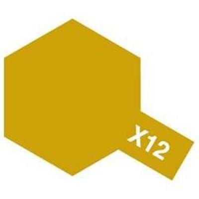 0000045135118:タミヤカラーエナメル X-12 ゴールドリーフ【新品】  塗料 エナメル塗料 TAMIYA