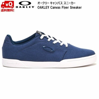 オークリー キャンバス スニーカー ブルー OAKLEY Canvas Flyer Sneaker Universal Blue 13551-6ZZ