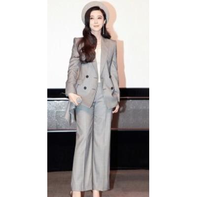 オールインワン セットアップ レディース スーツ 入園式 入学式 ママスーツ パンツ セット 韓国 パンツスーツ レディース おしゃれ 大き