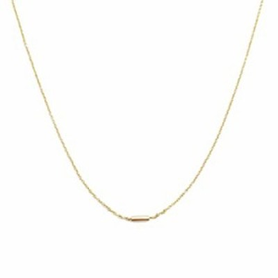 HONEYCAT Mini Pipe Bar Necklace in 18k Gold Plate   Minimalist, Delicate Jewelry (G)