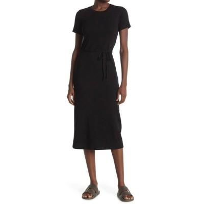 ステートサイド レディース ワンピース トップス 2X1 Mini Rib Tee Dress BLACK