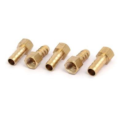 uxcell ホースバーブ継手 カプラコネクタアダプタ バーブチューブ継手 ホース直径8mm メスねじ1/8BSP 5個入り