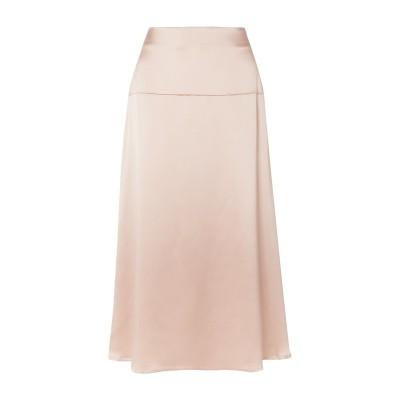 LA COLLECTION ロングスカート ベージュ 0 シルク 100% ロングスカート