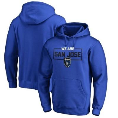ユニセックス スポーツリーグ サッカー San Jose Earthquakes Fanatics Branded We Are Pullover Hoodie - Blue トレーナー