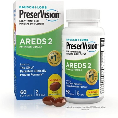 PreserVision AREDS 2  プリザービジョン2 60錠 アイビタミン&ミネラルサプリメント 加齢黄斑変性対策サプリ ゼアキサンチン 亜鉛 ビタミンE