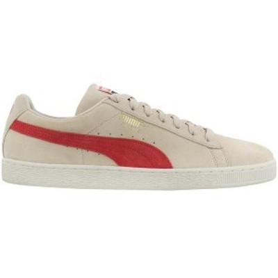 プーマ メンズ スニーカー シューズ Suede Classic Lace Up Sneakers Tapioca / Hot Coral