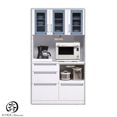 レンジ台 食器棚 レンジボード キッチンボード 幅105cm オープンボード キッチン家電収納 コンセント付 北欧 モダンおしゃれ 木製 ホワイト MDF エナメル塗装