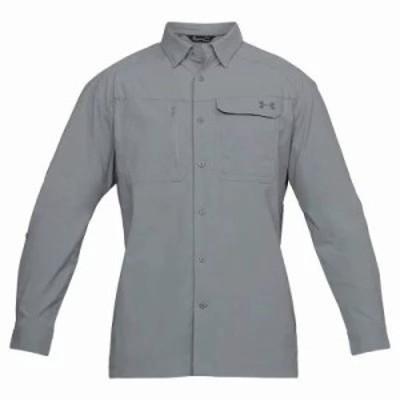 アンダーアーマー シャツ UA Fish Hunter LS Solid Shirt Steel / Graphite