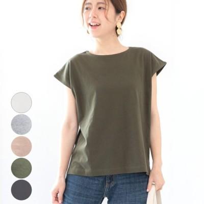 レディース ファッション 大きいサイズ 40代 30代 春 夏 トップス 半袖 フレンチスリーブ カジュアル シンプル Tシャツ リラックス