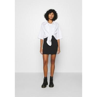 エブンアンドオッド スカート レディース ボトムス 2 PACK - Mini skirt - black/camel