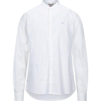 サン シックスティーエイト SUN 68 メンズ シャツ トップス Solid Color Shirt White