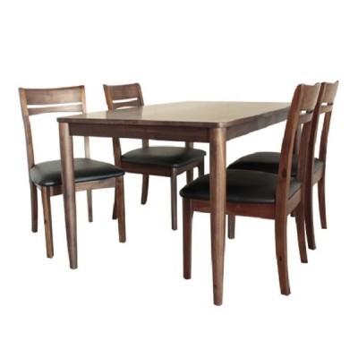 ダイニングテーブル5点セット ガラナ 4人掛け 130cm ウォールナット 北欧 ダイニングテーブル ダイニング おしゃれ ダイニング5点セット 木製 高級