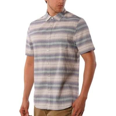ジェレミア メンズ シャツ トップス Jeremiah Men's Gibson Textured Chambray Stripe SS Shirt