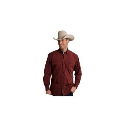ウエスタン カウボーイ カジュアルシャツ トップス 海外セレクション Roper Western Shirt メンズ Button 長袖 レッド 03-001-0365-0661 RE
