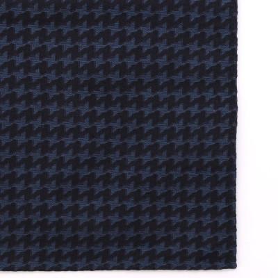 ムッシュ ニコル MONSIEUR NICOLE 【ex/tra】ハウンドトゥース ジャカードポケットチーフ (60ブルー)