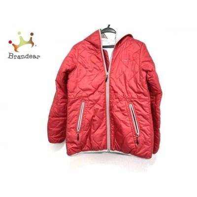 エーグル AIGLE ダウンジャケット サイズM レディース 美品 レッド 中綿/リバーシブル/冬物 新着 20200602