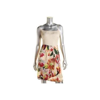 海外セレクション ドレス ワンピース Hoss 7879 レディース Beige Ramie フローラル プリント Party Cocktail ドレス 44 BHFO