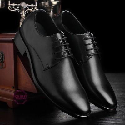 歩きやすい革靴 レザーシューズ ビジネスシューズ プレーントウ 靴 メンズ 革靴 紳士靴 疲れない 軽量 防水
