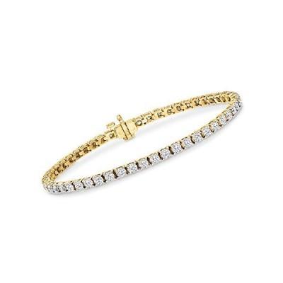 (新品) Ross-Simons 5.00 ct. t.w. Diamond Tennis Bracelet in 14kt Yellow Gold