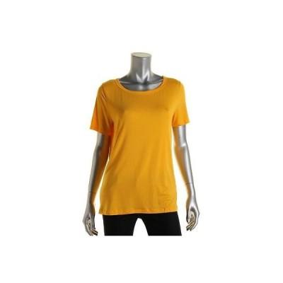 トップス&ブラウス Jones New York Jones New York 9689 レディース オレンジ Solid カジュアル 半袖 Tシャツ Top L BHFO
