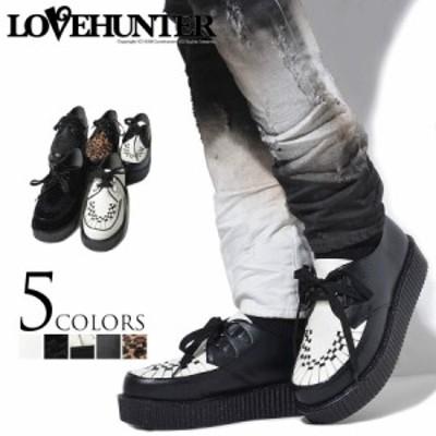 秋新作 靴 ブーツ メンズ LOVE HUNTER ラブハンター 厚底ラバーソールシューズ 返品・交換対象商品 即日発送 ヴィジュアル系 ビジュアル