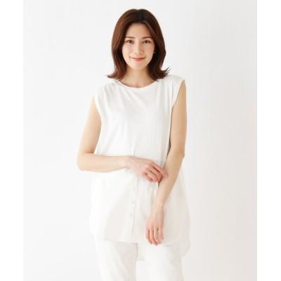 SHOO・LA・RUE / 裾シャツレイヤード風タンクトップ WOMEN トップス > Tシャツ/カットソー