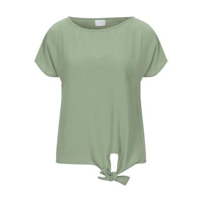 VILA T シャツ ライトグリーン 34 ポリエステル 100% T シャツ