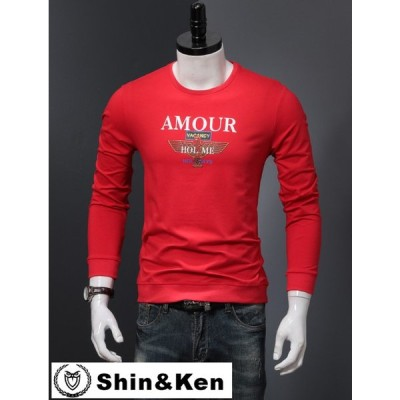 ロンT メンズ Tシャツ ブランド 服 トップス プリント 男性 秋冬 人気 長袖 Tシャツ sjmpa016