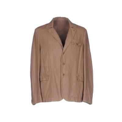 MONTEDORO テーラードジャケット キャメル S コットン 82% / 麻 18% テーラードジャケット