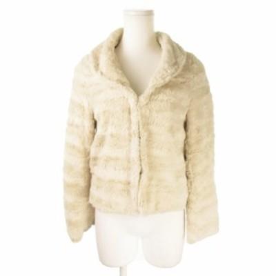 【中古】プロポーション ボディドレッシング PROPORTION BODY DRESSING ジャケット フェイクファー 3 アイボリー
