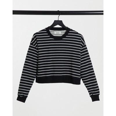 プルアンドベアー レディース シャツ トップス Pull&Bear sweatshirt in stripe