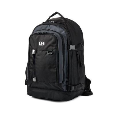 【カバンのセレクション】 Lee リー リュック メンズ レディース ブラック 黒 大きめ 大容量 通学 軽量 拡張 32/41L 320-4280 ユニセックス グレー フリー Bag&Luggage SELECTION