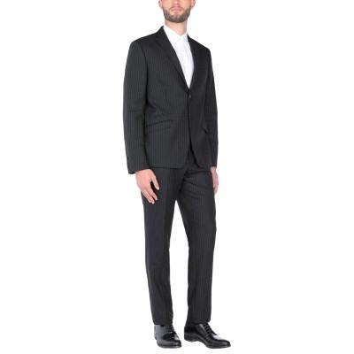 GAZZARRINI スーツ ブラック 52 ウール 56% / コットン 44% スーツ