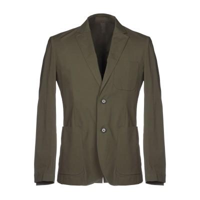 パオロ ペコラ PAOLO PECORA テーラードジャケット ミリタリーグリーン 48 95% コットン 5% ポリウレタン テーラードジャケット