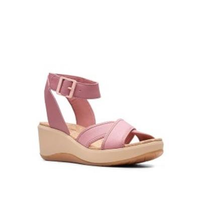 クラークス レディース サンダル シューズ Cloudsteppers Women's Step CaliCoast Wedge Sandals Mauve/Pink Canvas