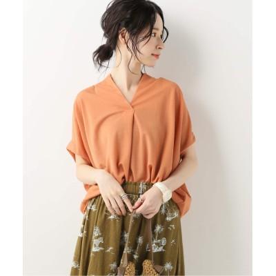 レディース ベーセーストック スキッパーTシャツ◆ オレンジ フリー