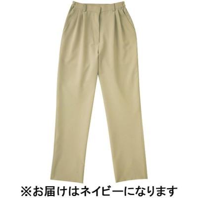KAZENKAZEN レディスツータックパンツ 医療白衣 ネイビー L APK720-C/8(直送品)