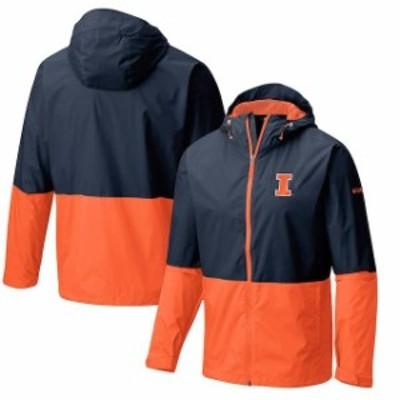 Columbia コロンビア スポーツ用品  Columbia Illinois Fighting Illini Navy Collegiate Roan Mountain Jacket