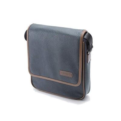ショルダーバッグ メンズ レディース 斜めがけ 軽量 軽い ソフト カジュアル 縦型 B5 通勤 旅行 横幅26cm  (紺) 平野鞄