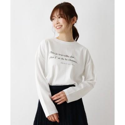 tシャツ Tシャツ ロゴプリントロングTシャツ