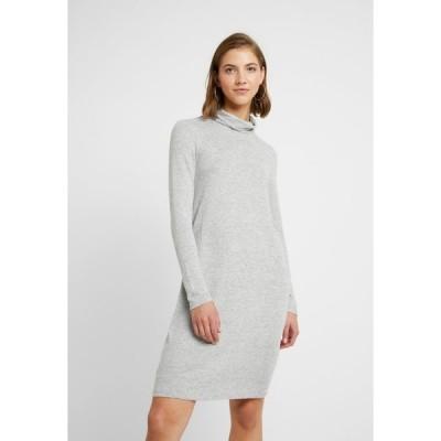 ヴェロモーダ ワンピース レディース トップス VMMALENA ROLLNECK SHORT DRESS - Jumper dress - light grey melange
