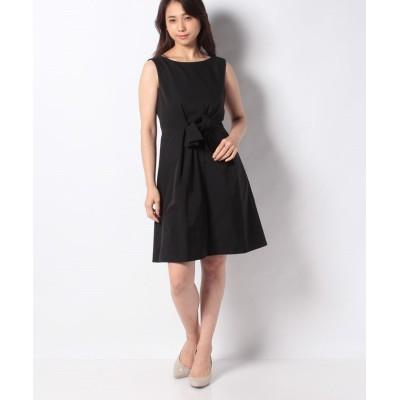 【ミス ジェイ】 タフタ リボンドレス レディース ブラック 36 MISS J